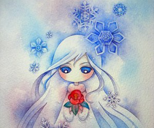 winter, art, and rose image