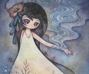 childish, watercolors, and juri ueda image