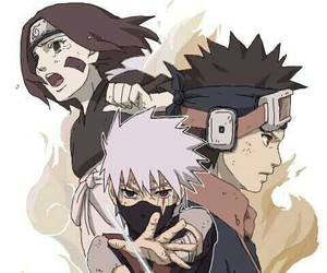 naruto, kakashi, and rin image