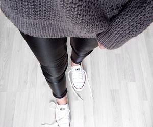 fashion, converse, and sweater image