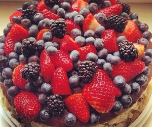 berries, blueberry, and dessert image