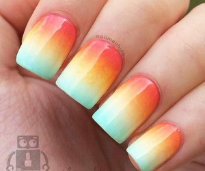 beauty, ombre, and orange image