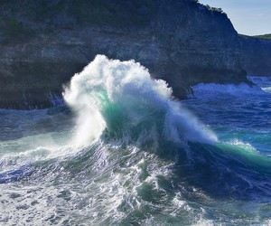 waves, sea, and ocean image