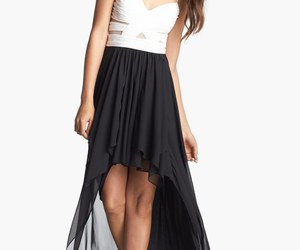 black and white, dress, and style image