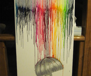 art, rain, and colors image