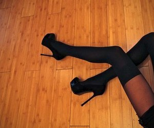 shoes, legs, and black image