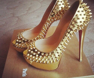 gold, look, and shoes image