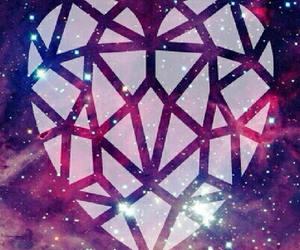 heart, galaxy, and wallpaper image