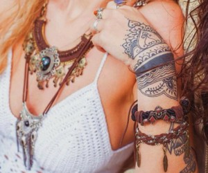 tattoo, hippie, and boho image