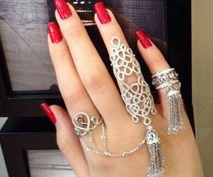 beautiful, girls, and red nails image