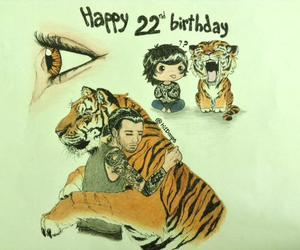 happy birthday, tiger, and 1d image