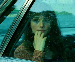 girl, car, and rain image