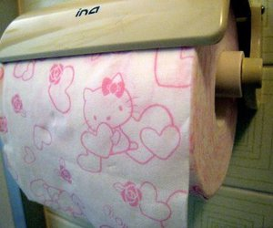 hello kitty and toilet paper image