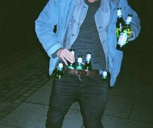 grunge, boy, and beer image