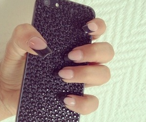 nails, black, and case image
