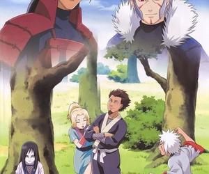 naruto, orochimaru, and senju image