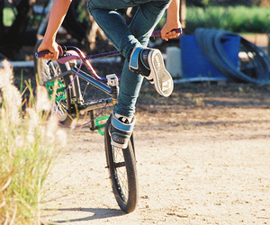 bike and boy image