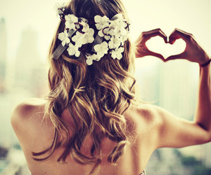 curly hair, heart, and fashion image