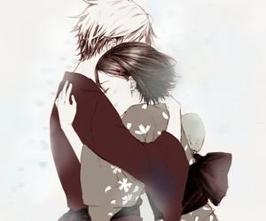 anime couple and hotarubi no mori e image