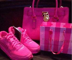 pink, girly, and nike image