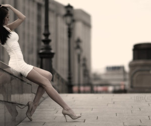 girl, dress, and white image