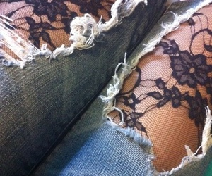 jeans and lace image