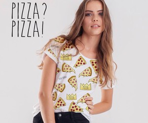 cool, patterned, and pizza image