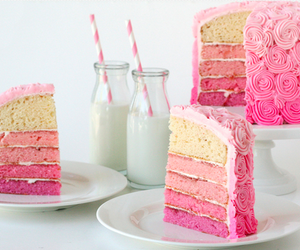 cake, pink, and ♥ image