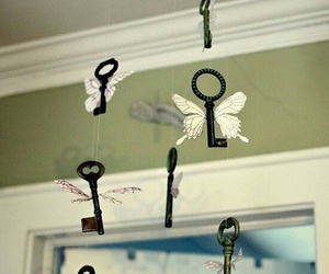 harry potter, key, and wings image