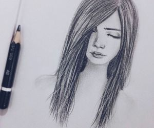 draw, girl, and cute image