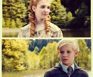 the book thief, liesel, and rudy image