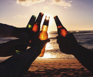 summer, friends, and drink image