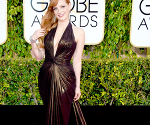 golden globes and jessica chastain image