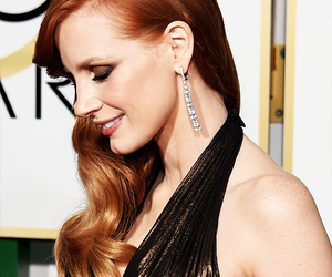 fashion, golden globes, and jessica chastain image