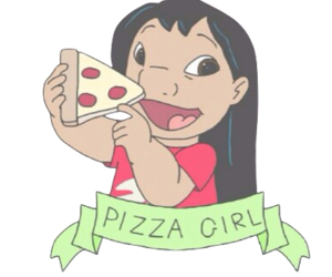 pizza, overlay, and disney image
