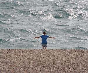 brother, sea, and summer image