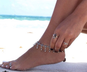 ankle, beach, and ring image