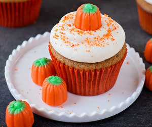 cupcake, pumpkin, and yum image