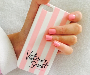 nails, pink, and victorias secret image
