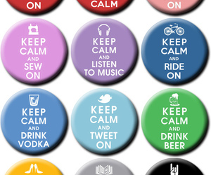 botton, keep calm and carry on, and bottons image