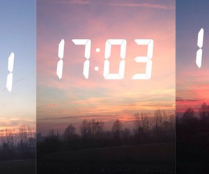 sunset and time image