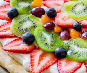 fruit, pizza, and kiwi image