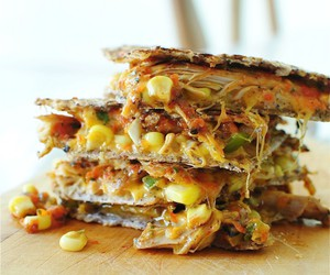 quesadilla, cheese, and delicious image