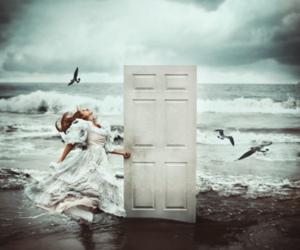 door, sea, and ocean image