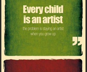 quote, artist, and child image