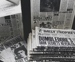 harry potter and newspaper image