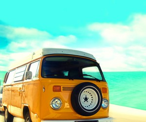 summer, van, and beach image