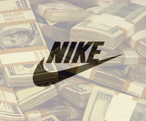 nike, money, and wallpaper image