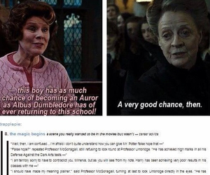 dolores umbridge, maggie smith, and minerva mcgonagall image