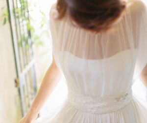 bride, brunette, and dress image